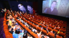 Three hundred youngsters fill the cinema with cheers when Mr Mark Wahlberg makes a special appearance on screen, encouraging them to work hard and shoot for the stars.